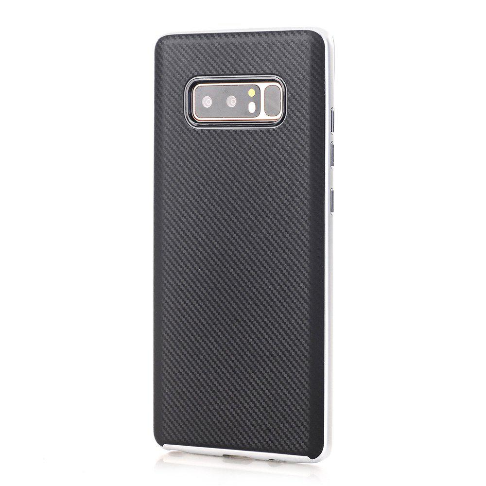 TPU + PC Carbon Fiber Case for Samsung Note 8 - SILVER