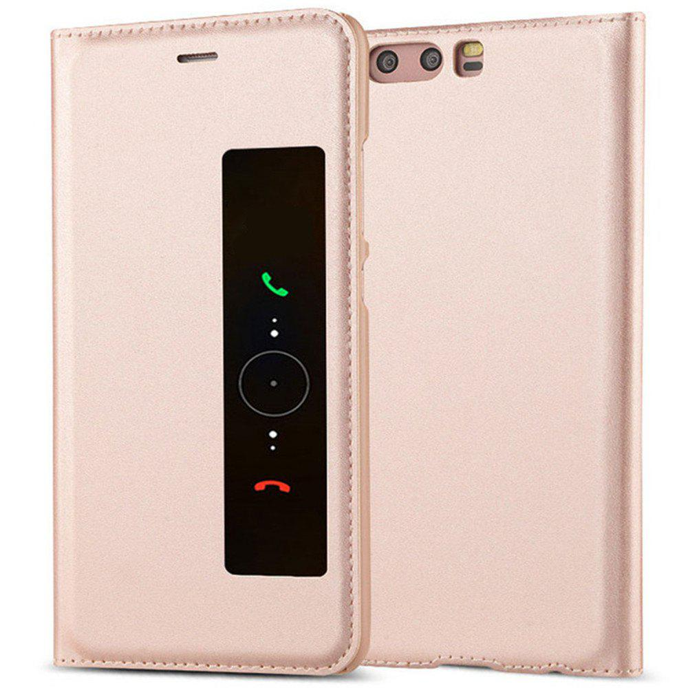 Intelligent Double Window Automatic Sleep Flip Case for Huawei P10 - ROSE GOLD