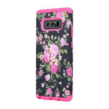 Rose Flower Design Hard PC Soft Silicone Protective Durable Shockproof Case For Samsung Galaxy Note8 - ROSE RED ROSE RED