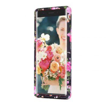 Rose Flower Design Hard PC Soft Silicone Protective Durable Shockproof Case For Samsung Galaxy Note8 - ROSE RED