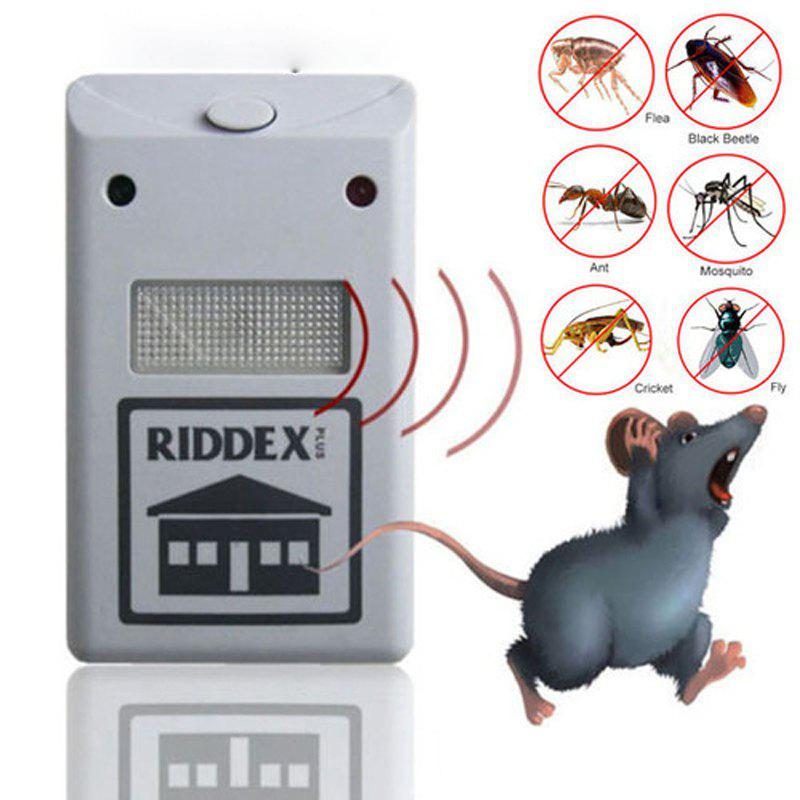 Pest Control Reject Rat Spider Insect Ultrasonic Repeller Repellent - WHITE