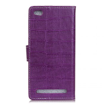 Vintage Crocodile Pattern PU Leather Wallet Case for Xiaomi Redmi 5A - PURPLE