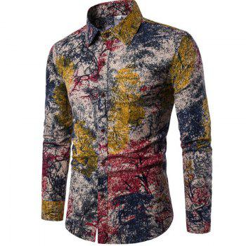 New Men'S Long Sleeves Printed Shirts  Beach Shirts