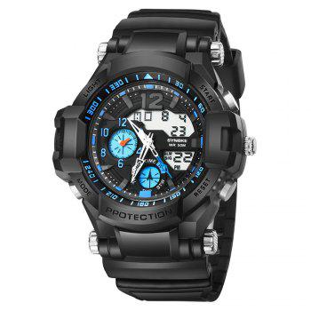 SYNOKE 67366 Outdoor Running Sports Student Electronic Watch - BLUE BLUE
