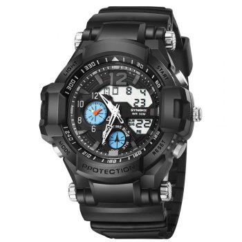 SYNOKE 67366 Outdoor Running Sports Student Electronic Watch - BLACK BLACK