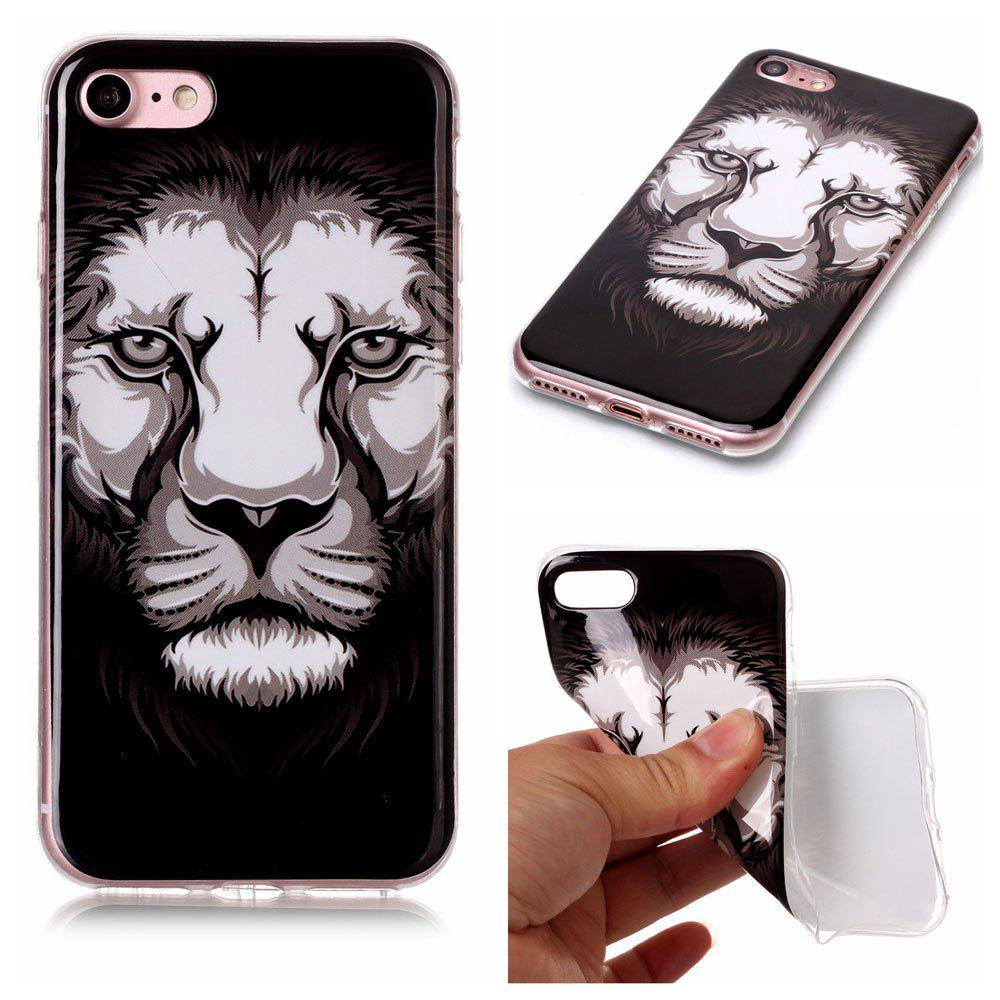 Lion Ultra Thin Slim Soft TPU Silicone Case for iPhone 7 / 8 - COLORFUL