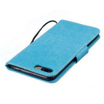 Little Bear Embossed Wallet Flip PU Leather Card Holder Standing Phone Case for iPhone 7 Plus / 8 Plus - LIGHT BLUE