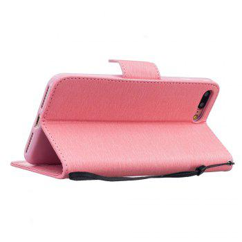 Little Bear Embossed Wallet Flip PU Leather Card Holder Standing Phone Case for iPhone 7 Plus / 8 Plus - PINK