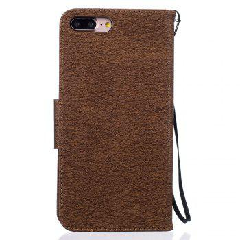 Little Bear Embossed Wallet Flip PU Leather Card Holder Standing Phone Case for iPhone 7 Plus / 8 Plus - COFFEE