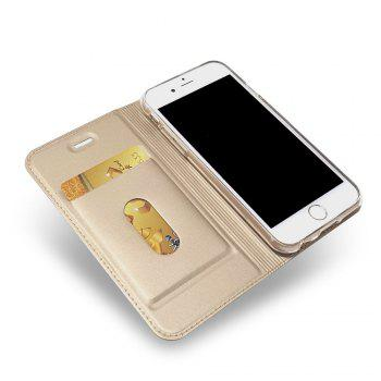 New Luxury Flip Card Slot Magnetic Suction PU Leather Cover for iPhone 6 / 6s - GOLDEN