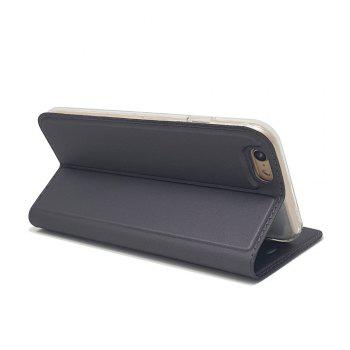 New Luxury Flip Card Slot Magnetic Suction PU Leather Cover for iPhone 6 / 6s - GRAY