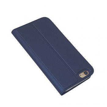 New Luxury Flip Card Slot Magnetic Suction PU Leather Cover for iPhone 6 / 6s - BLUE
