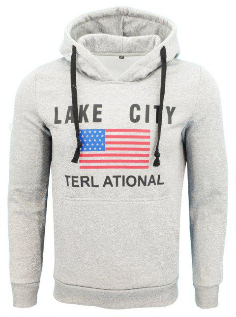 e7e2644ab European and American Style English Printed Men'S Hooded Casual Clothes -  GRAY M