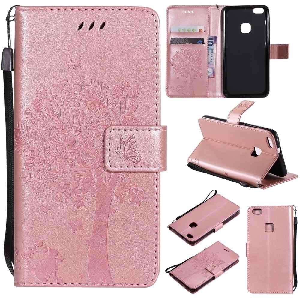 Double Embossed Sun Flower PU TPU Phone Case for HUAWEI P10 Lite - ROSE GOLD