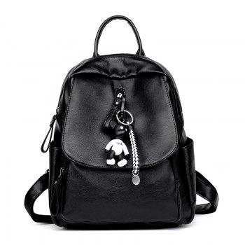 New Ladies / Girls Fashion All Match Bag Backpack with Ornaments - BLACK BLACK