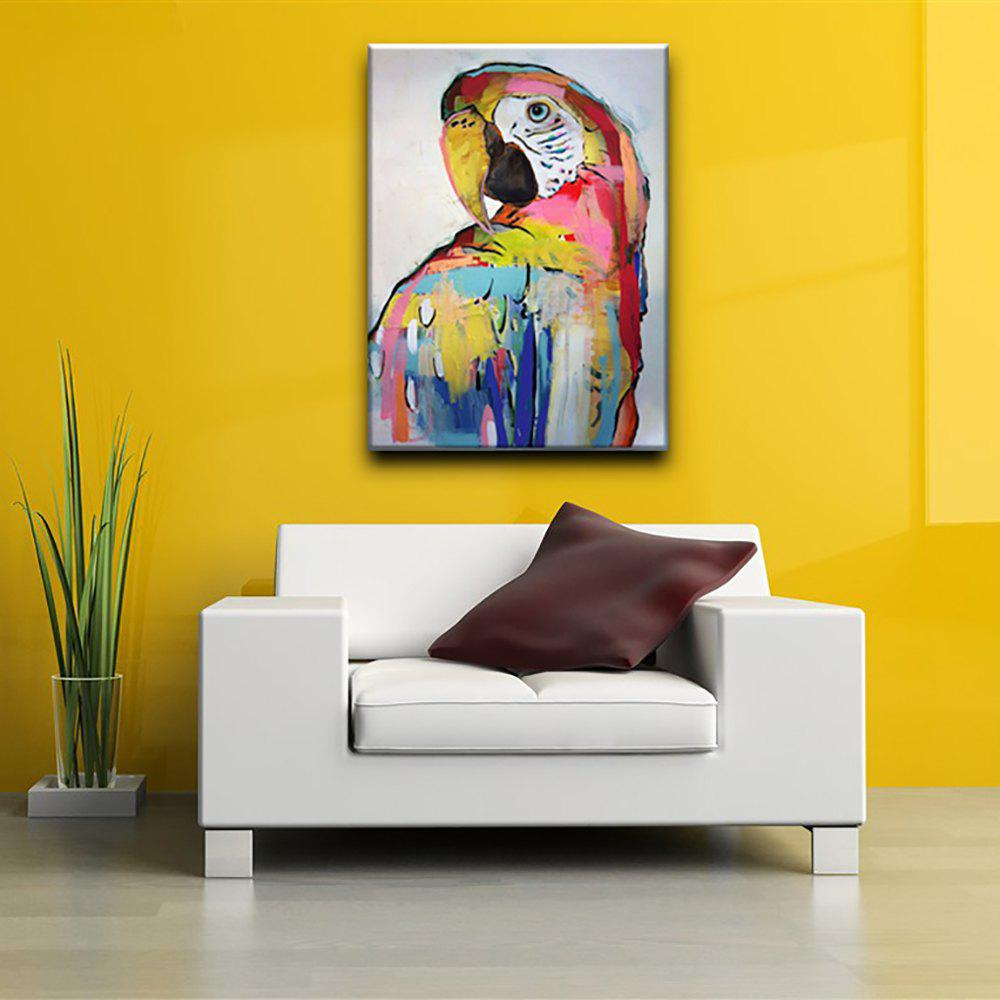 2018 YHHP Hand Painted Parrot Canvas Oil Painting for Home ...