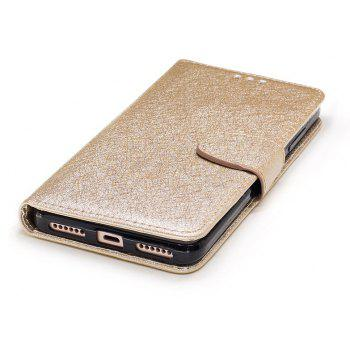 for Xiaomi RedMi Note 4 Natural Silk Double Color Texture PU Leather Case with Wallet Card Slots - GOLDEN
