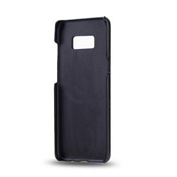 Crazy Horse Stripes PU Leather All Encompassing Case for Samsung Galaxy S8 -  BLACK