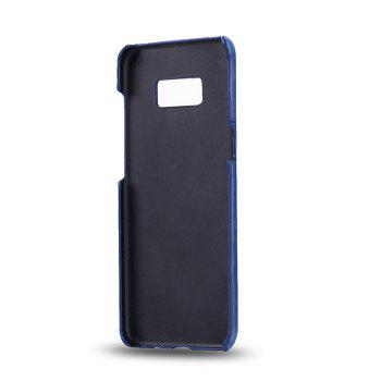 Crazy Horse Stripes PU Leather All Encompassing Case for Samsung Galaxy S8 -  BLUE