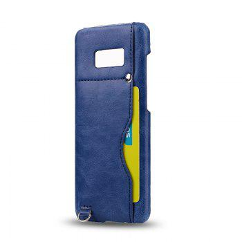 Crazy Horse Stripes PU Leather All Encompassing Case for Samsung Galaxy S8 - BLUE BLUE