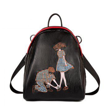 Women s Backpack Embroidery Decoration Casual School