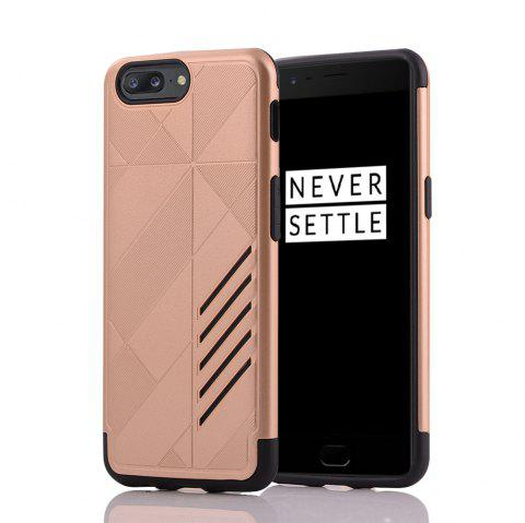 Minismile Shock-proof Scratch-resistant Dual Layer PC Frame TPU Back Case Protective Combined Cover for Oneplus 5 - GOLDEN
