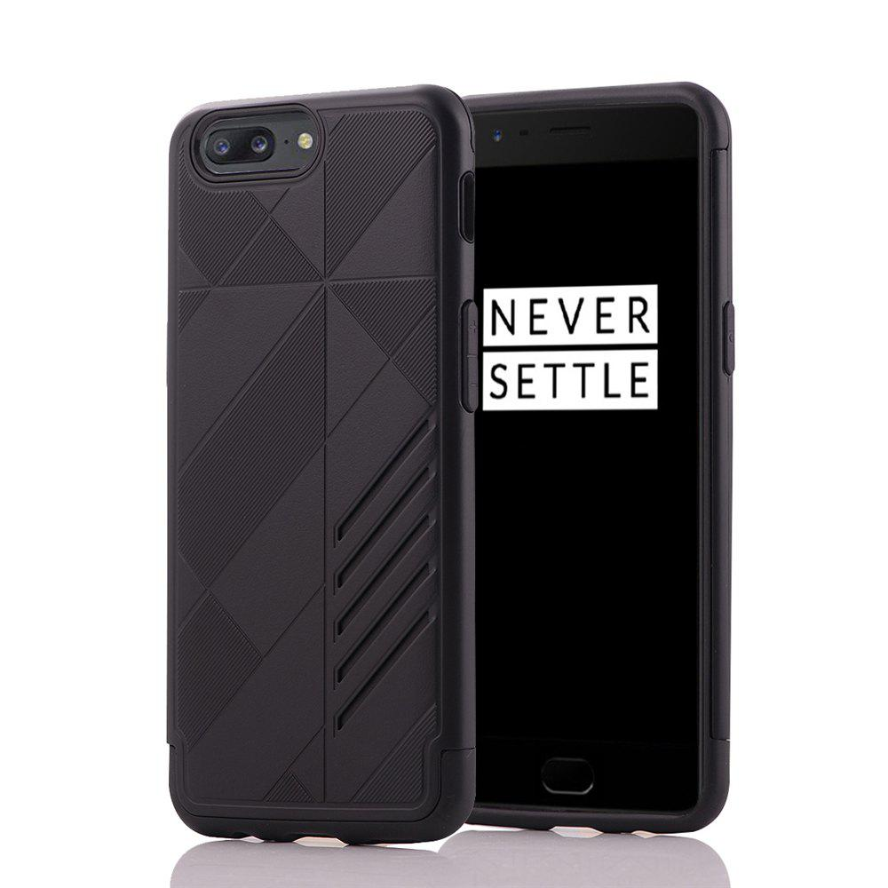 Minismile Shock-proof Scratch-resistant Dual Layer PC Frame TPU Back Case Protective Combined Cover for Oneplus 5 - BLACK