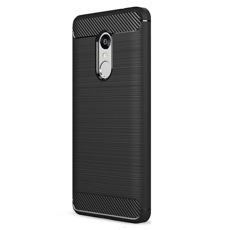 Brushed Finish Soft Phone Case for Xiaomi Redmi Note 4/ 4X - BLACK
