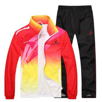 2017 Men's Autumn Breathable Fashion Sport Suit - RED RED