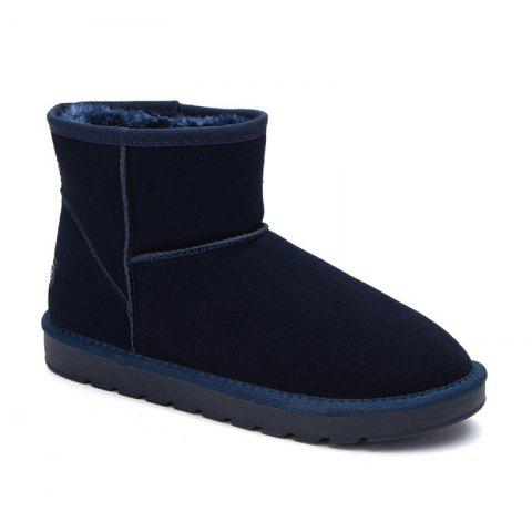 Men Loafers Peas Shoes Casual Warm Slip on Sneakers Male Drive Sneakers - BLUE 41