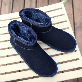 Men Loafers Peas Shoes Casual Warm Slip on Sneakers Male Drive Sneakers - BLUE BLUE