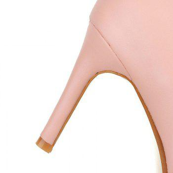 Pointed Thin Heel Sexy Boots with High Heel - PINK PINK