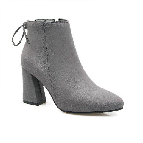 High Heels and Sexy Short Boots - GRAY 48