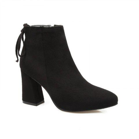 High Heels and Sexy Short Boots - BLACK 39