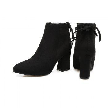 High Heels and Sexy Short Boots - BLACK BLACK