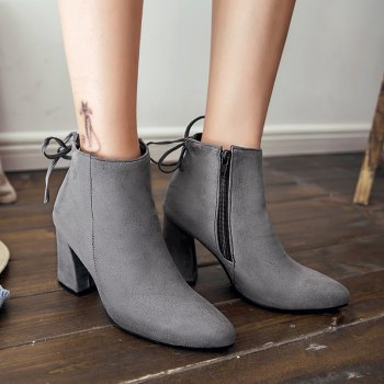 High Heels and Sexy Short Boots - GRAY GRAY