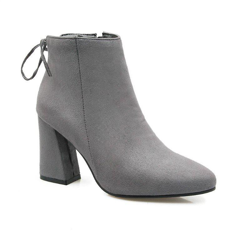 High Heels and Sexy Short Boots - GRAY 49