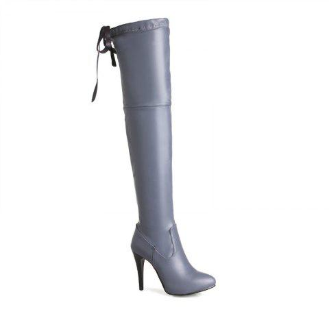 High Heels and Sexy Over-The-Knee Boots - GRAY 37