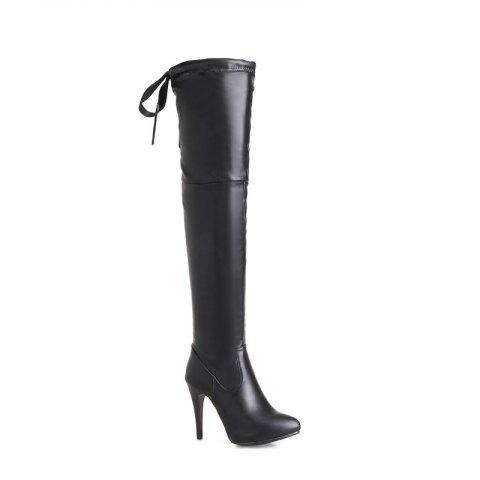 High Heels and Sexy Over-The-Knee Boots - BLACK 46