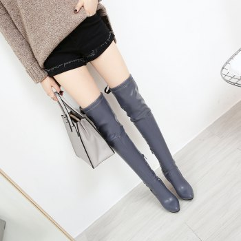 High Heels and Sexy Over-The-Knee Boots - GRAY GRAY