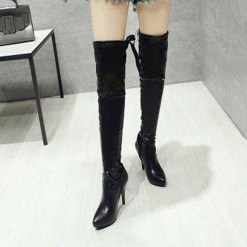 High Heels and Sexy Over-The-Knee Boots - BLACK BLACK