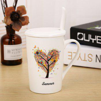 400ML Dumb Light of Four Seasons Tree Ceramic Cup - COLORFUL COLORFUL