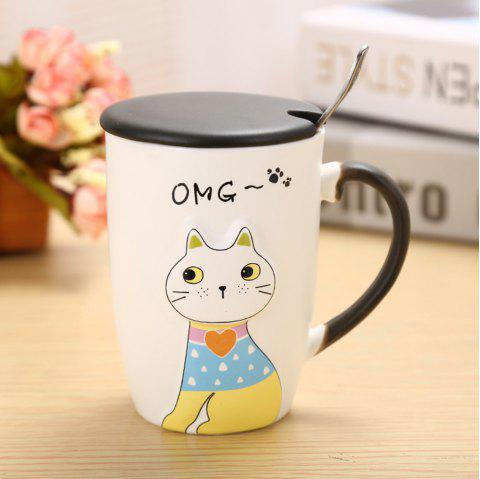 Tasse en céramique de chat d'animal de secours 375ML - multicolore STYLE 1