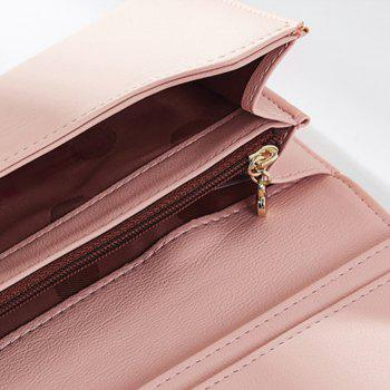 Fashion Women Long Clutch Wallet Ladies Pu Zip Female Card Holder Coin Purse - PINK