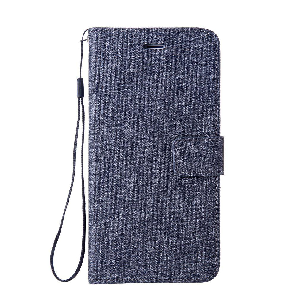 Cotton Pattern Leather Case for Xiaomi Redmi 4A - BLACK