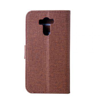 Cotton Pattern Leather Case for Xiaomi Redmi 4 - BROWN