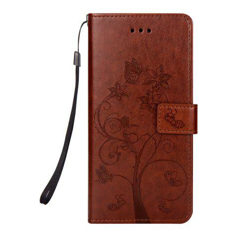 Ants On The Tree Flip PU Leather Dirt Resistant Case for iPhone 7 Plus - BROWN