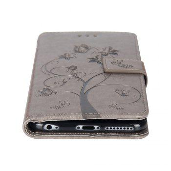 Ants On The Tree Flip PU Leather Dirt Resistant Case for iPhone 7 Plus - GRAY
