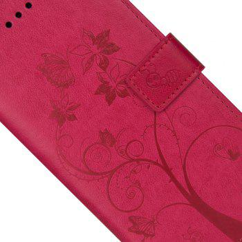 Ants On The Tree Flip PU Leather Dirt Resistant Case for iPhone 7 Plus - ROSE RED