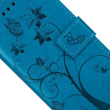 Ants On The Tree Flip PU Leather Dirt Resistant Case for iPhone 7 Plus - BLUE